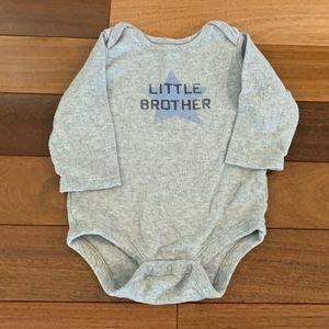 Baby gap little brother onesie. 3-6 months